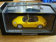 PORSCHE BOXSTER S IN YELOW MINICHAMPS 1/43 rd MODEL 400 062072