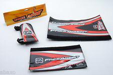 Free Agent BMX Bike Pad Set Black/Red/Silver