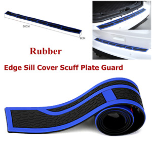 1×SUV Car Rear Bumper Edge Sill Cover Scuff Plate Guard Scratch Resistant 90x8cm