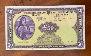 IRELAND LADY LAVERY 1977 £50 BANKNOTE