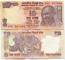 India 10 Rupees Mahatma Gandhi 2015 Unc P#102 New Variation - Money