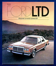 PROSPEKT BROCHURE 1981 Ford LTD * LTD Crown Victoria * Ltd wagons (USA)