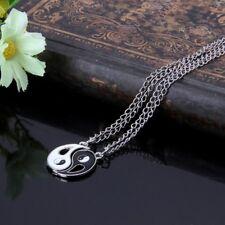 2 PCS Men Women Friendship Yin Yang Necklace Pendant Couples Necklace Puzzle Set