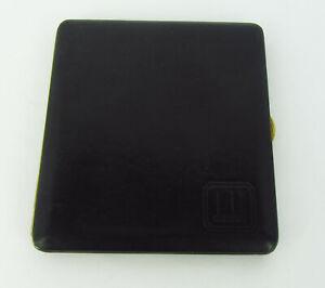 Dunhill Black Leather Gilt Frame Slimline Cigarette Case