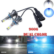 Switchback Ice Blue & White Dual Color 9006 HB4 LED DRL Fog Driving Light Bulbs