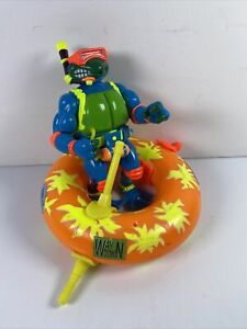 TMNT Teenage Mutant Ninja Turtles Scuba Divin' Raph Psych Out Spin Out Tube RARE