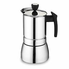 Cafe Ole 6-Cup Stainless Steel Espresso Coffee Maker, Silver, 240 ml