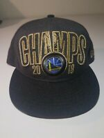 Golden State Warriors Cap New Era 9Fifty Hat 2018 Champs NBA Flat Snapback