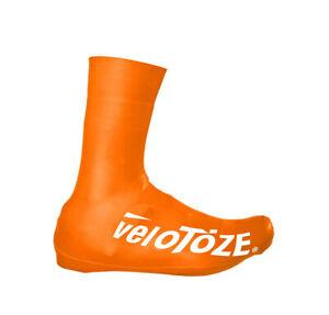 VeloToze Tall 2.0 Waterproof Aero Overshoes - Hi Vis Orange