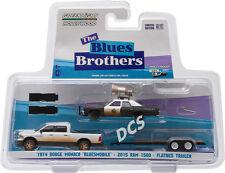 GREENLIGHT 2015 RAM 1500 1974 MONACO BLUESMOBILE BLUES BROTHERS 1/64 CAR 31010 C