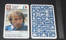 CARTE COUREUR AUTOMOBILE 1984 FORMULE 1 GRAND PRIX F1 JACQUES LAFFITE WILLIAMS