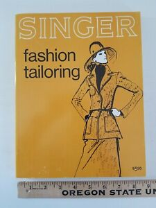 Vtg 1973 Singer Fashion Tailoring by Jessie Hutton PB Sewing Book 1st Ed UEC