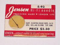 Jensen E-93 Needle Stylus Replaces EV 0-13 NOS FREE SHIPPING