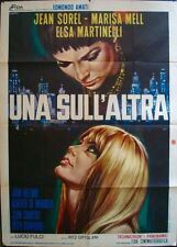 ONE ON TOP OF THE OTHER Italian 2F movie poster 39x55 LUCIO FULCI CASARO LESBIAN