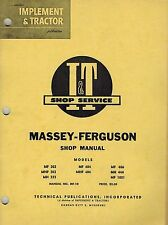 MASSEY FERGUSON 303 to 444 TRACTORI+T SHOP MANUAL MF-10