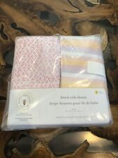 Burts Bees Baby Fitted Crib Sheets 2 Pack