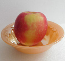 VINTAGE 1950 S piccola ciotola di vetro Fire-king Laurel Anchor Hocking Peach lustro dish