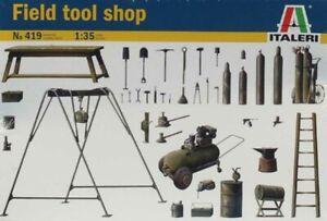 Italeri 1:35 Field Tool Shop Plastic Diorama Accessory #419U