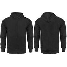 Mens Zip Up Hoodie Hooded Sweatshirt Fleece Top Plain Hoody Jumper Pullover all