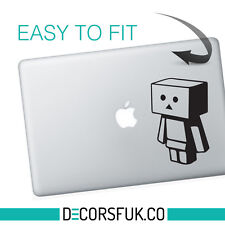 DANBO MacBook adesivi in vinile nero | Laptop Adesivi | MacBook Decalcomanie
