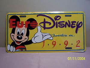 Euro DISNEY LICENSE PLATE 1992 Ouverture en Mickey Mouse  -   Sealed