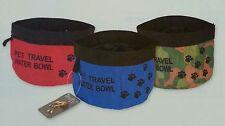 Gamelle de voyage souple pliable tissu étanche pour chien neuve