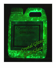 Crystal Glitter Glow Glaze paint 1Litre, glow in the dark starry night 3D effect