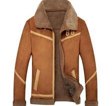Stylish Mens Winter Warm Coat Parka Lamb Wool Motorcycle Jacket Thicken Outwear