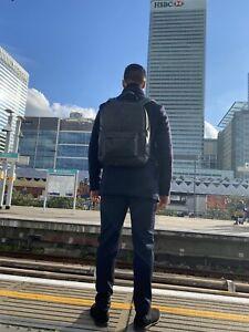Genuine Leather Laptop Backpack Rucksack Messenger School Bag Satchel Black New