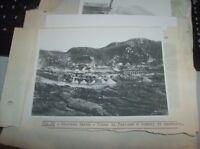 """""""GIUGNO 1938 XVI LA CENTRALE DEL SOSIO ENTRATA IN ESERCIZIO"""" originale 18 x 13"""