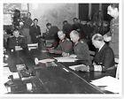WWII German General Jodl Signing Surrender Ending Europe War Silver Halide Photo