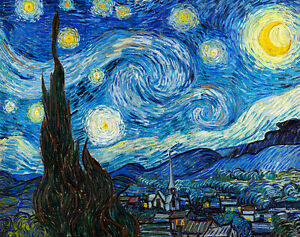 Starry Night by Vincent van Gogh A1+ High Quality Canvas Art Print