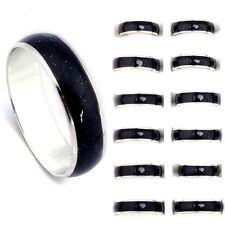 50pcs Lots Change Color Silver Plated Mood Rings Wholesale Bulk Fashion Jewelery