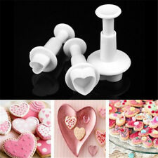 Fondant Cake Decorating Plunger Cutter Tool all 3, 3 sunflower, 3 hearts, 3 leaf