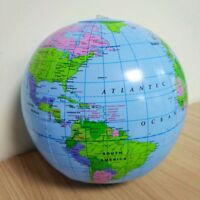 Large 30cm Inflatable World Earth Globe Map Geography Beach Ball Education Toys