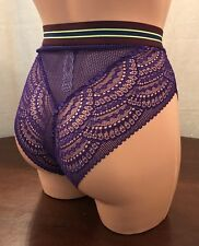 NWT, Victoria's Secret, Sz Small, High-Waist Cheeky, Purple/Navy/Green, Panties