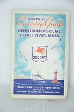 Standard Oil Socony 1940s 1950s Sailing Cruising Boating Map New England