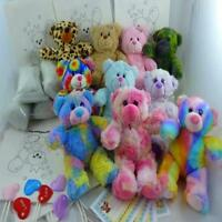 "Build our own Teddy Bear Splodge Party at Home - 8"" /20cm - no sew -4-14 kits"
