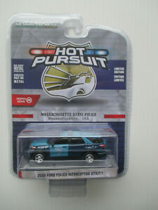 GREENLIGHT HOT PURSUIT MASSACHUSETTS STATE  POLICE *'20 FORD POLICE UTILITY* NEW
