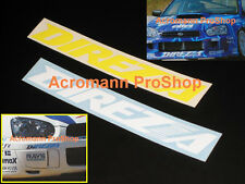 """2x 8.5"""" 21.6cm Dunlop DIREZZA decal sticker JDM Z1 DZ101 02G Sport D1 door roll"""