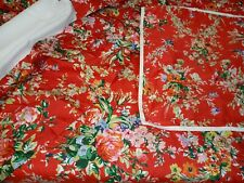 3 pc Ralph Lauren Belle Harbor Twin Comforter set  VGC  RED  w/ FLOWERS