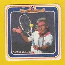 TENNIS  MEMORABILIA  -  FOSTERS  LAGER  BEERMAT  -  MARTINA  NAVRATILOVA -  1995