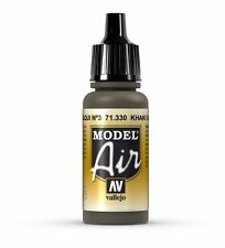 VALLEJO AIRBRUSH PAINT - MODEL AIR - KHAKI GREEN NUMBER.3 17ML - 71.330