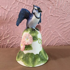 Avon Collectibles Blue Jay Bell 2001 White Floral