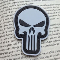 PUNISHER SKULL USA ARMY TACTICAL Military 3D PVC HOOK PATCH Morale Badge