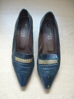 Ladies Shoes Rombah Wallace black leather courts UK 6 EU 39, handmade, used 3263