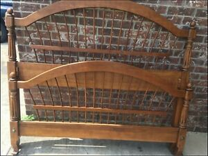ETHAN ALLEN COUNTRY FRENCH WHEATBACK SPINDLE QUEEN BED 26-5630 216