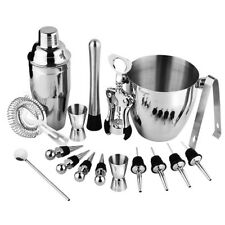 Bartender Kit, 17 Pieces Cocktail Bar Set Stainless Steel Shaker Set inclu R6B5