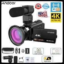 Andoer 4K 1080P 48MP 16X WiFi Digital Video Camera Camcorder w/ Microphone R0G0