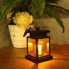 Solar Power LED Candle Lights Outdoor Garden Landscape Lantern Hanging Lamp -US